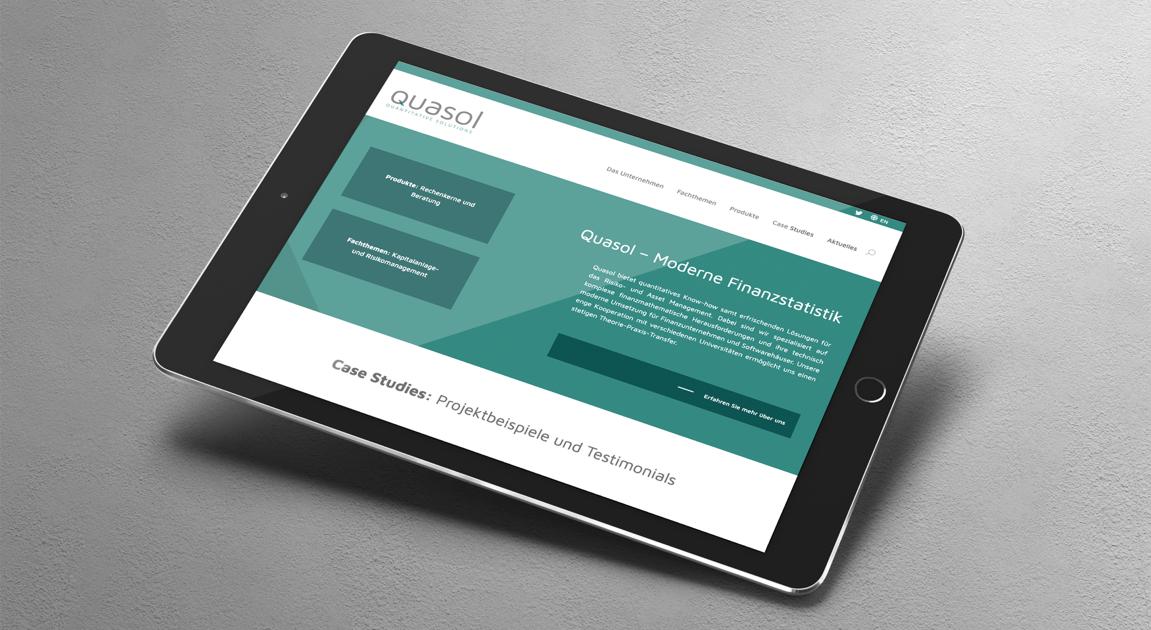 Website on ipad - Quasol