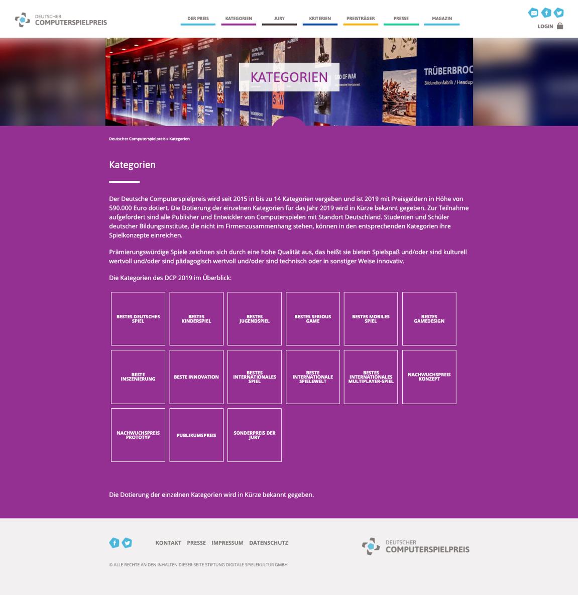 Website - German computer games award