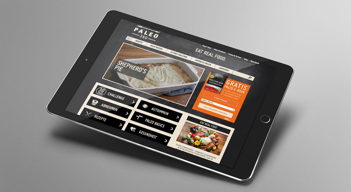 Website on Ipad - Paleo 360