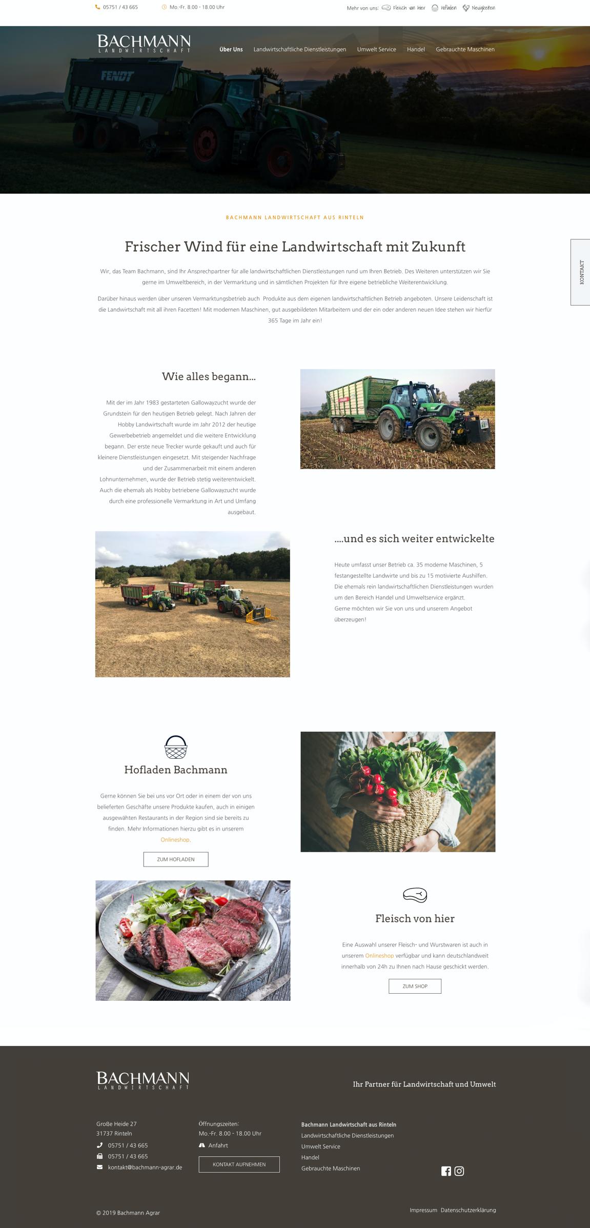 Website - Bachmann Landwirtschaft