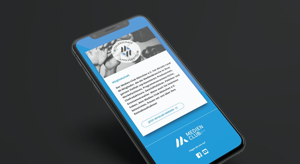 Website mobile - Medien-Club München